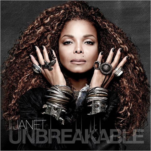 Album cover of Unbreakable, Janet Jackson's eleventh studio album.