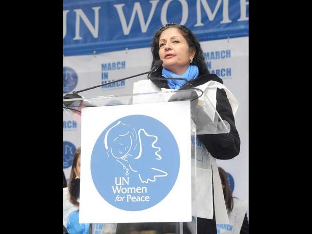 Lakshmi Puri, deputy executive director of UN Women - AFP Photo, courtesy of Hindu Times.