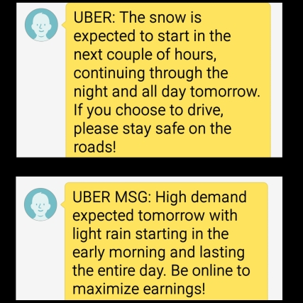 10 Things Uber Text Weather